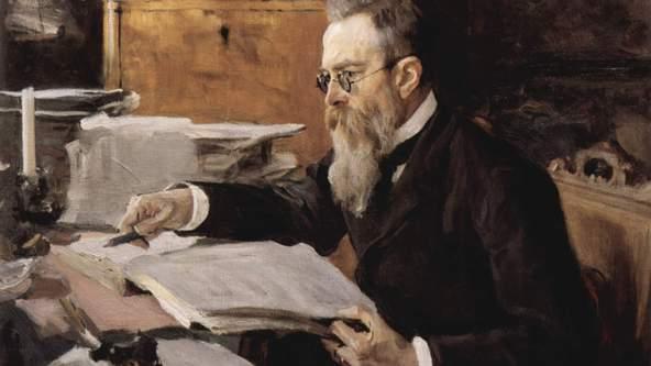 Portrait of Nikolai Rimsky-Korsakov in 1898
